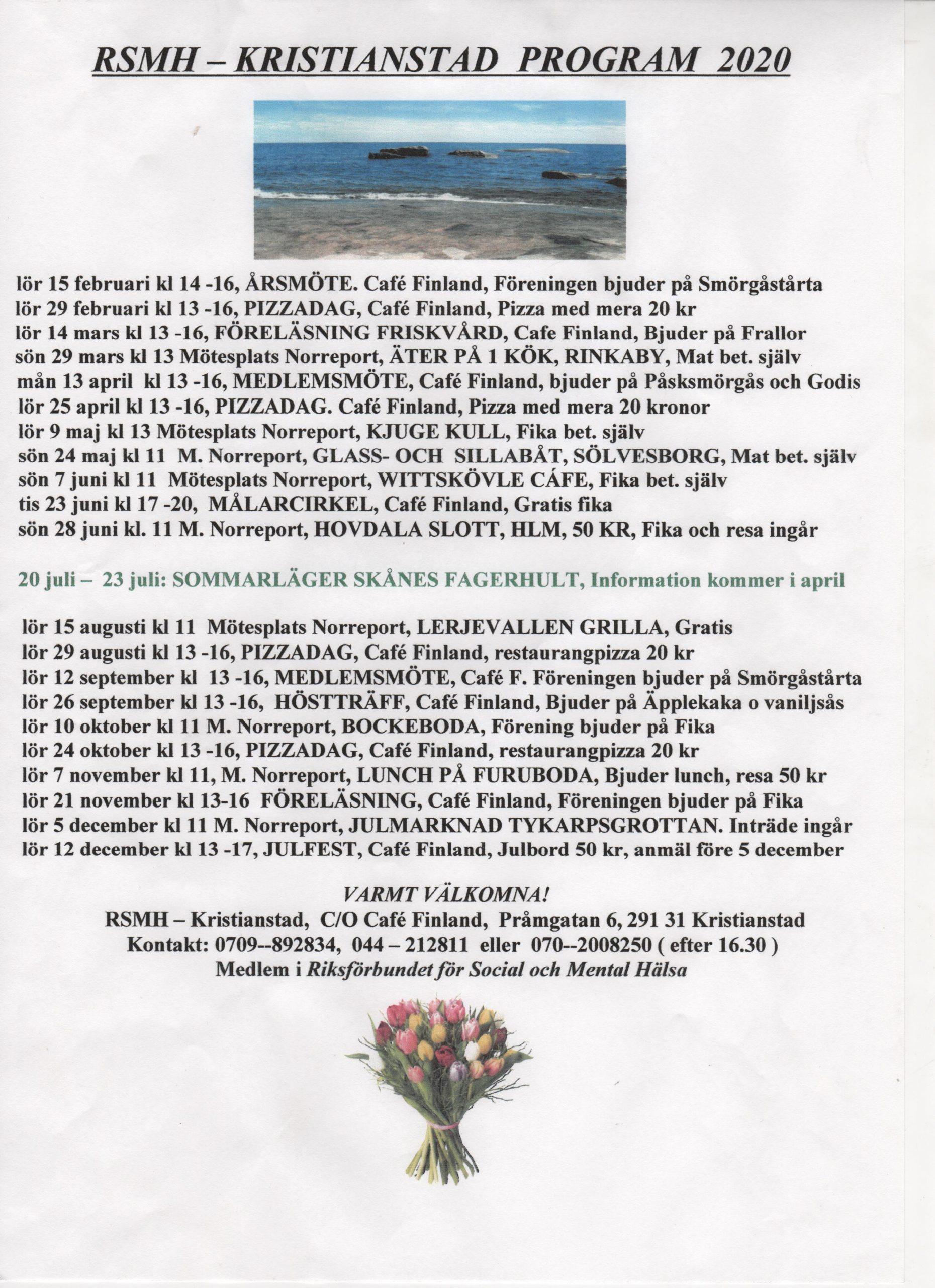 Kristianstads program 2020